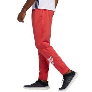Adidas   Mens Red Jogger Sweatpants Small